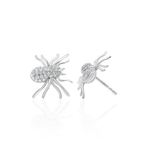 spider diamond earrings