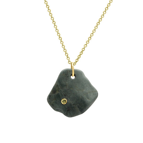 hand made, stone with Sapphire, One of a kind, New Zealand jewelry