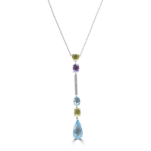 schick, fashionable, topaz, diamond, necklace, gold necklace, Amethyst