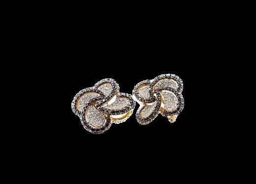Black diamonds, Black & white diamond earrings, fashion diamond earrings,