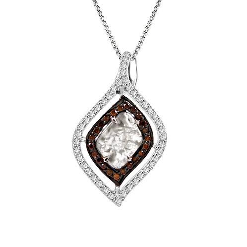 Orange diamonds, rose cut, diamond slice
