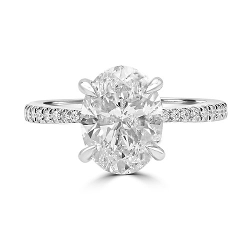 Oval Engagement ring, Oval diamond ring, Oval G VS,