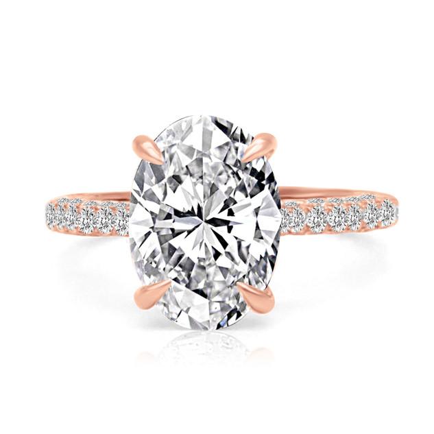 Oval Diamond 3Row Pave