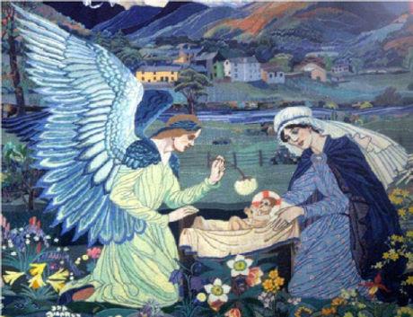 Ann Macbeth tapestries birth of Jesus 2
