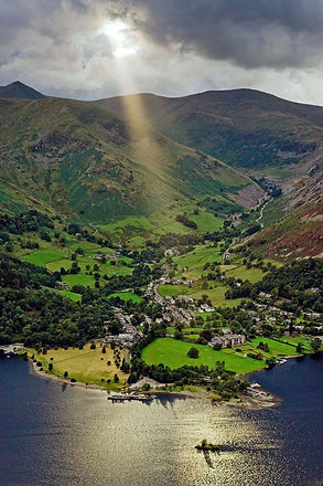 Glenridding with beam of light