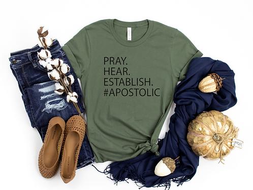 Pray Hear Establish T shirt