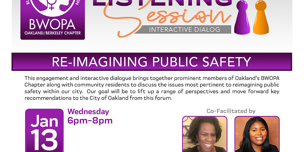 Reimaging Public Safety Listening Session: Interactive Dialog