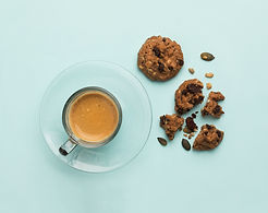 Espresso und Plätzchen