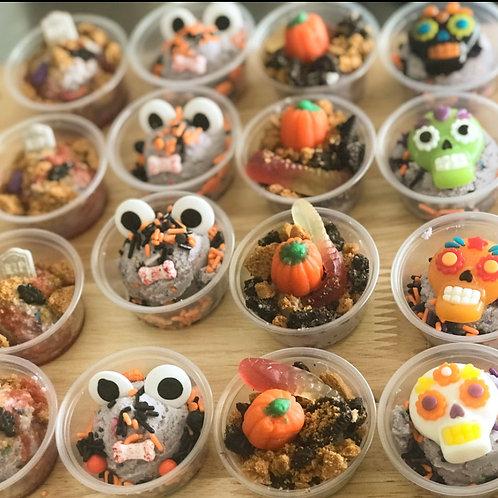 Halloween Cookie Dough Cups