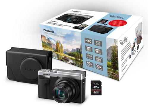Panasonic DC-TZ96 schwarz/silber Digitalkamera inkl. Tasche und Speicherkarte