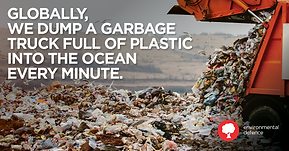 Eco6ix - Charity - garbage truck full of plastic every minute dumped in the ocean
