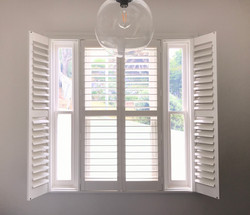 Plantation shutters Hinged with mid rail