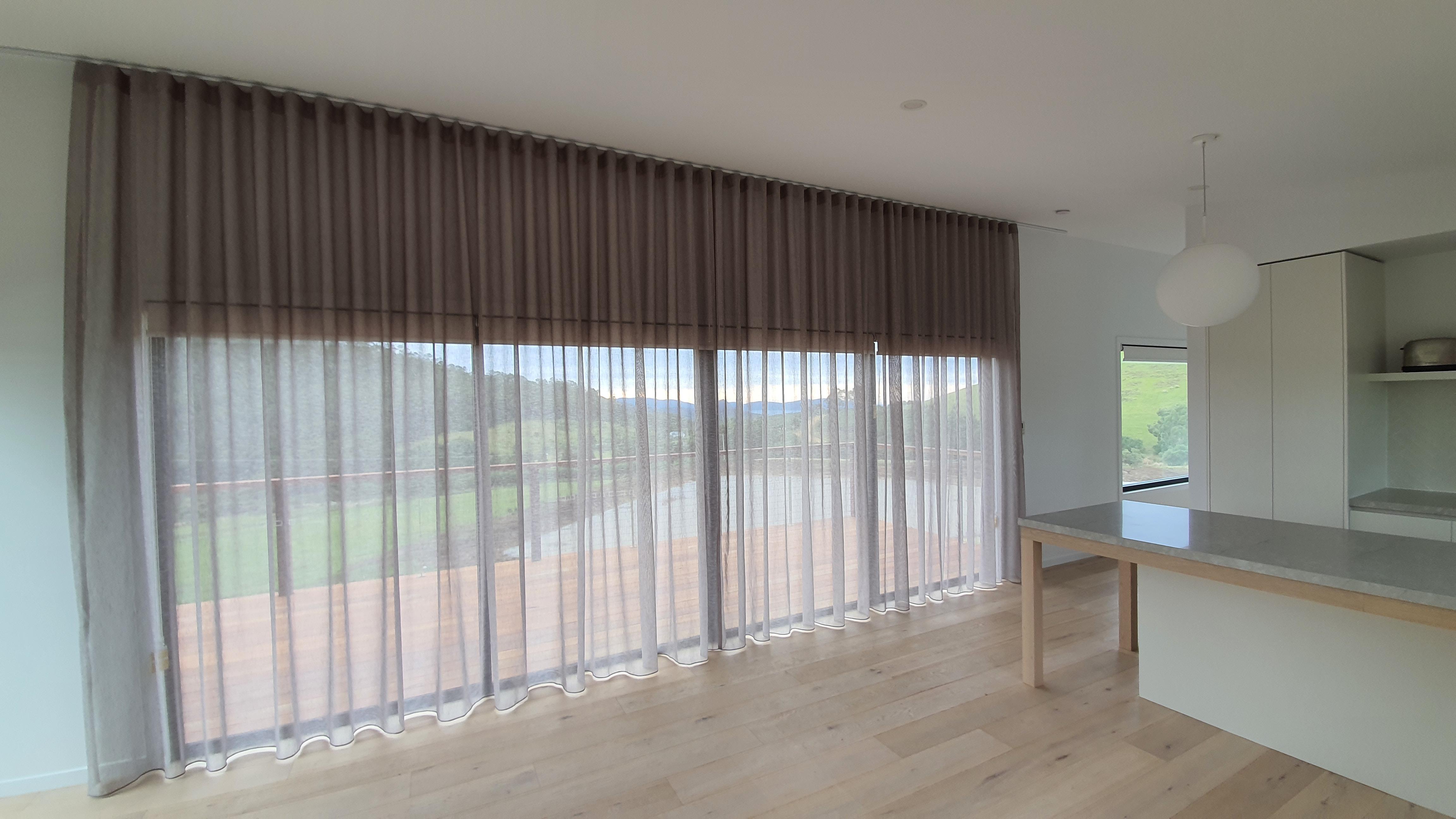 Sheer S-Fold curtains