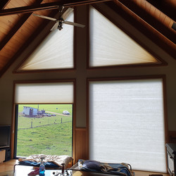Angled Honeycomb blinds