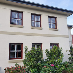 External view of plantation shutters