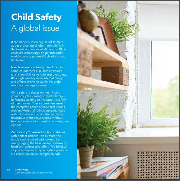 Child Safe Roller Blinds with new Zero Gravity perfectly balanced option