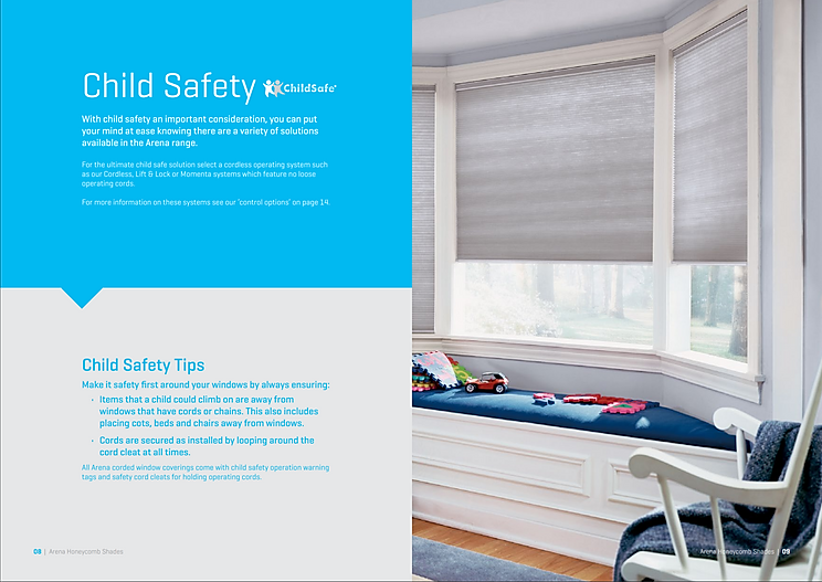 Affordable Honeycomb Blinds with smooth effortless child safe cordless operation