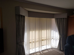 Bay window block out curtains & padded P