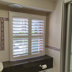 Plantation Bathroom shutters