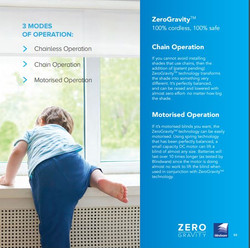 Zero Gravity child safe Roller Blind