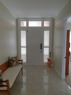 Plantation shutters in entry