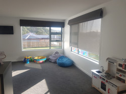 custom made Roman Blinds over Sunfilter roller blind. Insulation, Sun control and Privacy.