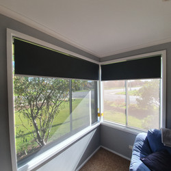 Double Roller Blinds corner window