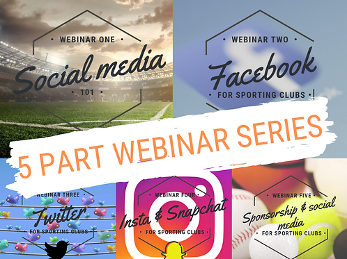 Social media for sporting clubs - 5 part series
