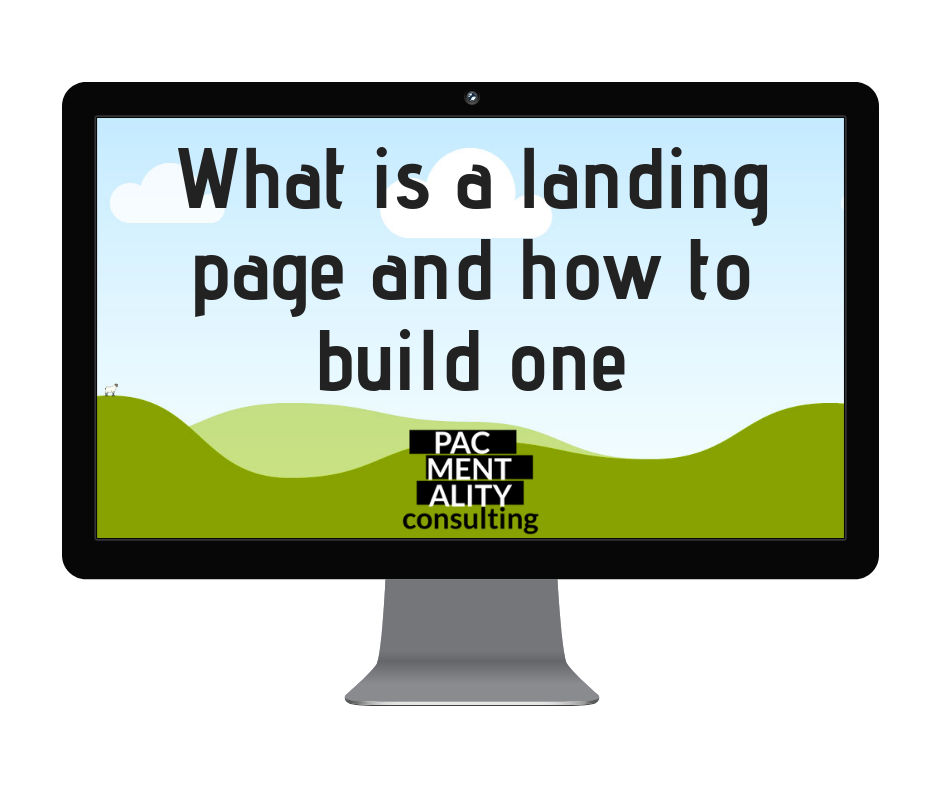 what is a landing page, how do i build a landing page