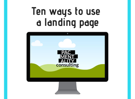 Ten ways to use a landing page for your business