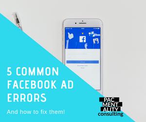 Common facebook ad errors