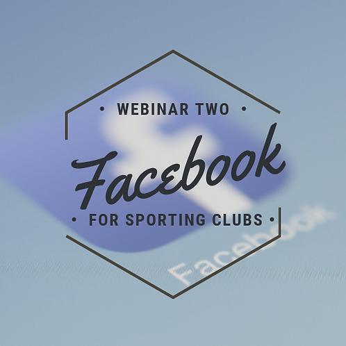Facebook for sporting clubs - Webinar 2