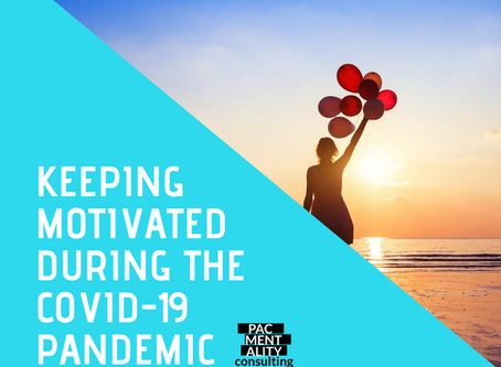Keeping motivated during the COVID-19 pandemic