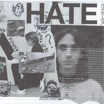 my collage and drawings on a page from the magazine monster children