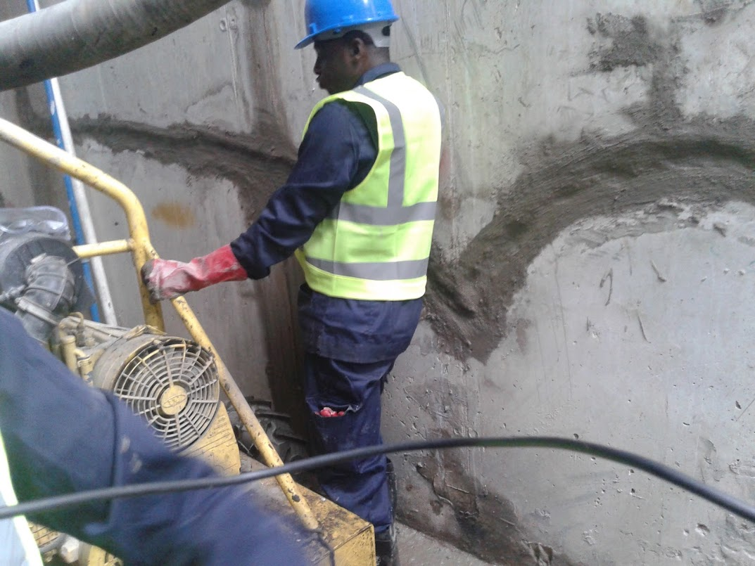 Concrete joint filling