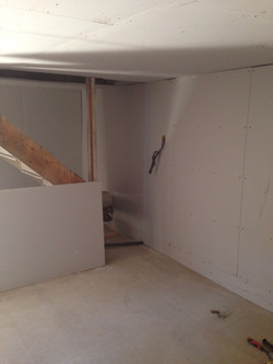 Final plasterwork being completed