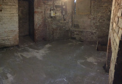 New concrete slab in basement
