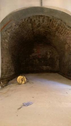Vaulted basement waterproofing