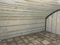 Timber battens allow for drylining
