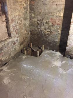 Pre-cast sump pump chamber