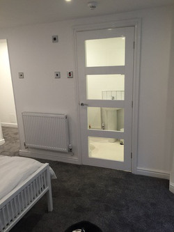 Cellar converted to bedroom