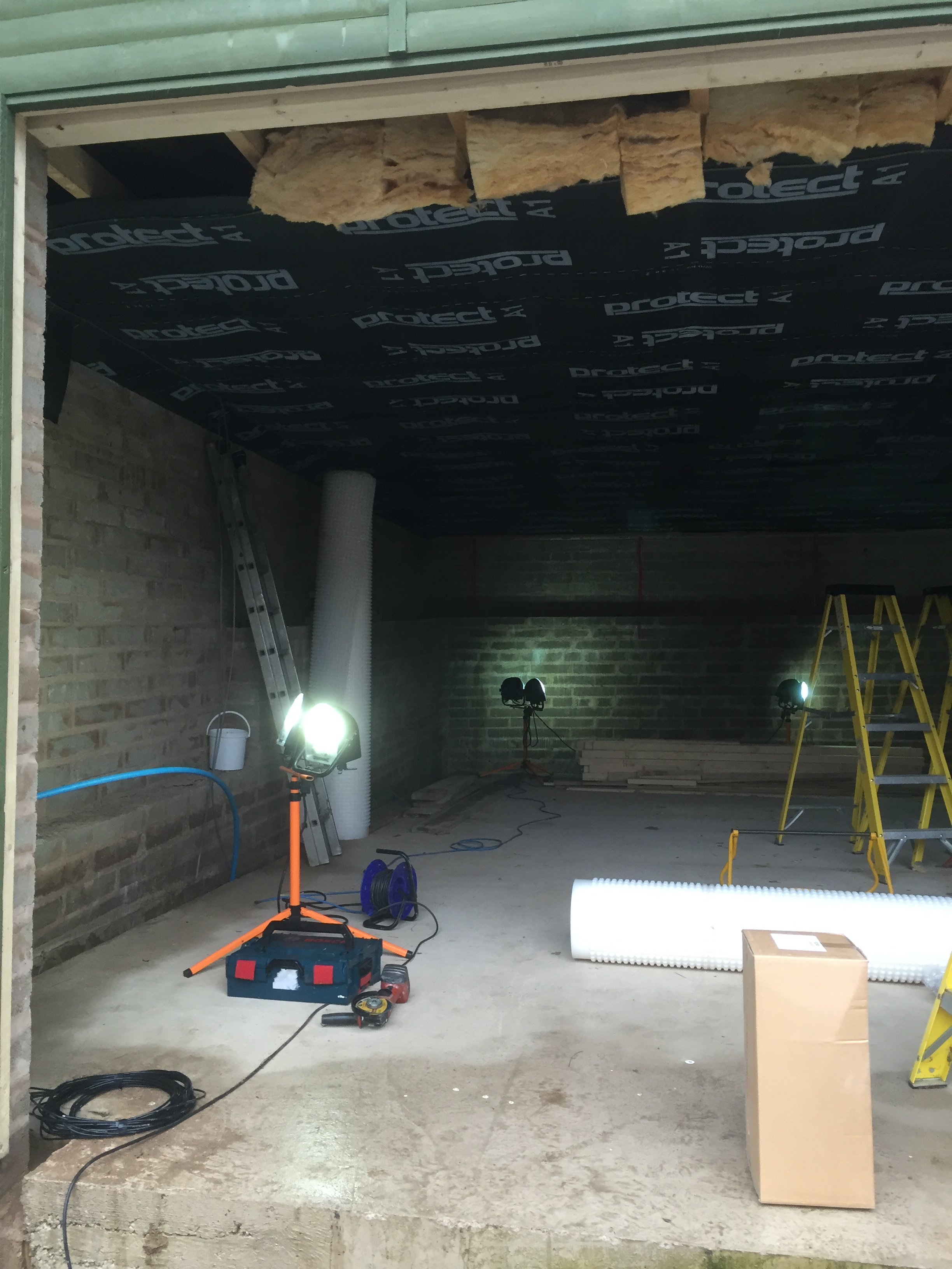 Waterproofing a garage