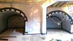Vaulted basement ceiling tanked