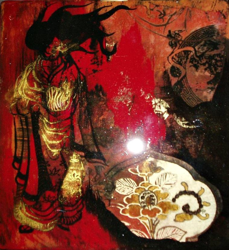 """La geisha des placards"" (20*20 cm)"