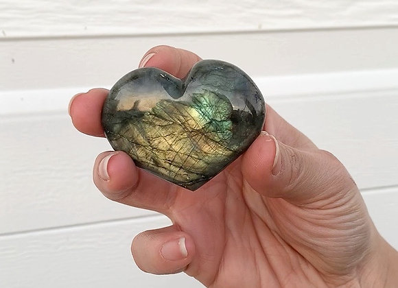 "2"" Polished Labradorite Heart"