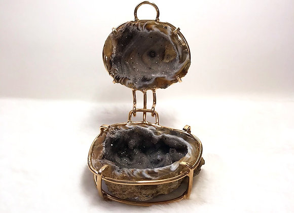 Druzy Agate Geode Jewelry Holder