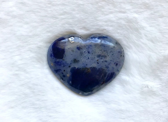 "2.25"" Polished Sodalite Heart"