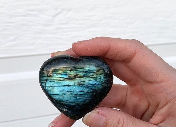 "2"" Polished Labradorite Heart"