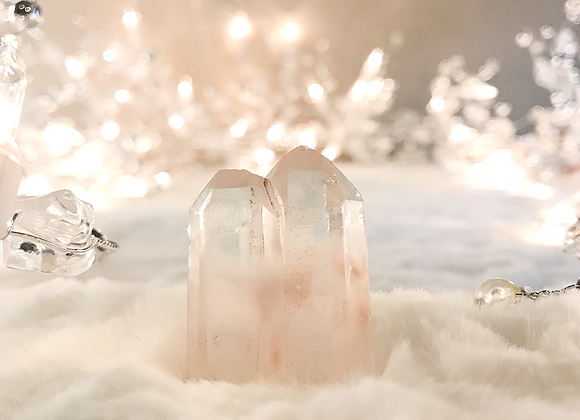 Twin Clear Quartz Tower with Inclusions