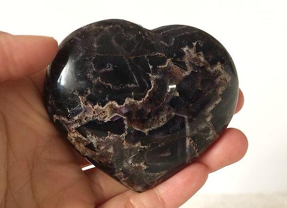 "3"" Polished Moroccan Amethyst Heart"